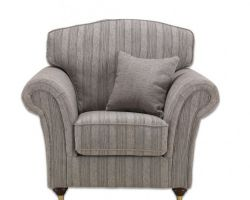 Sandringham Chair Stripe Grey